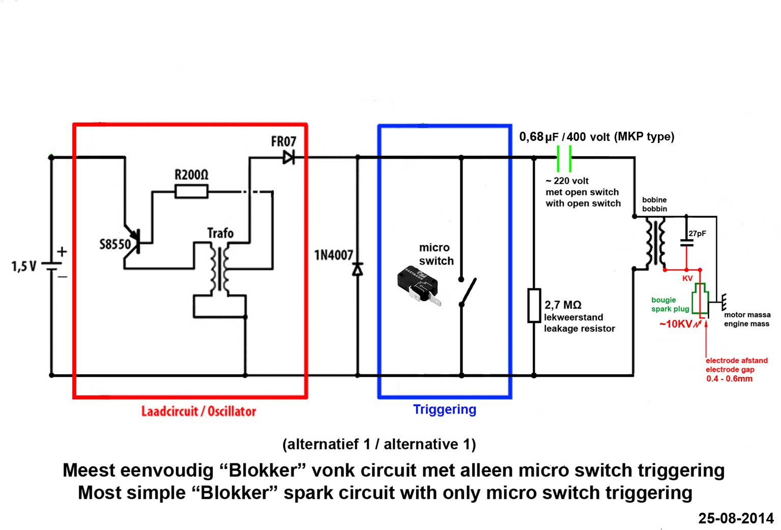 Introduction A Good Spark Is Crucial To Let An Ic Engine Run Well And Circuit With Switches In Parallel Lamp Cell The Blokker Schakeling Microswi